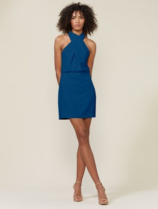 Halston Alix Cross Neck Dress