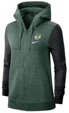 Nike Women's Milwaukee Bucks Full-Zip Club Fleece Jacket