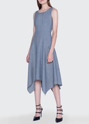 Akris Twill Handkerchief Midi Dress