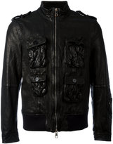 Neil Barrett utility jacket - men - Buffalo Leather/Polyamide/Spandex/Elastane/Cupro - L