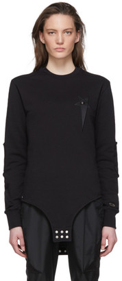 Rick Owens Black Champion Edition Pentagram Bodysuit