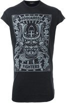 DSQUARED2 Japan fighters printed T-shirt