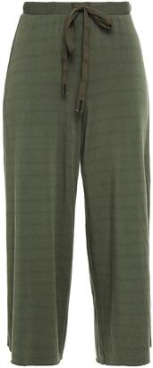 Stateside Cropped Modal-blend Fleece Wide-leg Pants