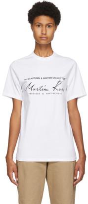 Martine Rose White Classic T-Shirt