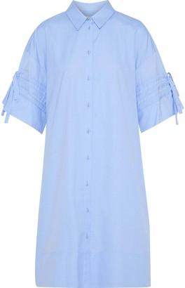 Victoria Victoria Beckham Victoria, Victoria Beckham Tie-detailed Cotton-poplin Shirt Dress
