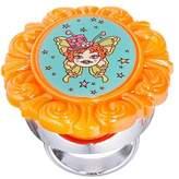 Tarina Tarantino Cameo Gem Lip Gloss Ring Electric Butterfly Orange by