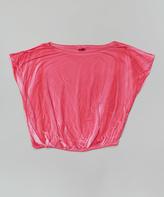 Erge Hot Pink Vintage Wash Dolman Top