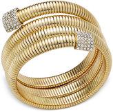 Thalia Sodi Gold-Tone Pavé Coil Bracelet, Created for Macy's