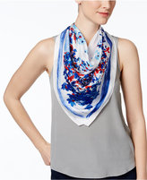 Vince Camuto Silk Painted Garden Square Scarf