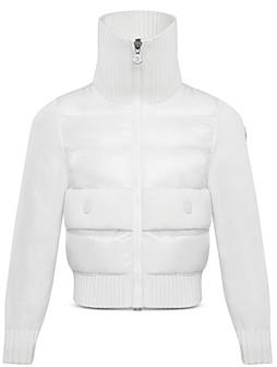 Moncler Girls' Mixed-Media Puffer Jacket - Big Kid