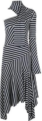 Monse striped asymmetric dress