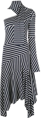 Monse Striped Chevron Jersey Dress