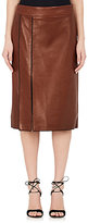 Nina Ricci WOMEN'S WHIPSTITCHED LEATHER PENCIL SKIRT