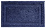 "InterDesign Microfiber Bathroom Shower Accent Rug - 34"" x 21"", Navy"