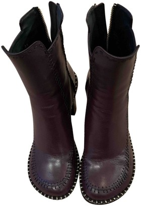 J.W.Anderson Purple Leather Ankle boots