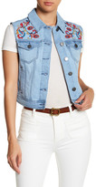 Romeo & Juliet Couture Embroidered Denim Vest