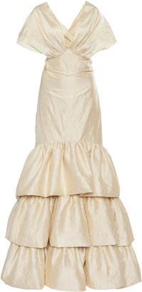 Johanna Ortiz Corazon Coraza Convertible Silk Gown