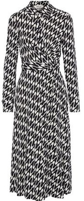 Diane von Furstenberg Sana Wrap-effect Printed Stretch-jersey Midi Dress