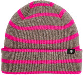 Paul Smith Men's Striped Rib-Knit Lambswool Beanie-GREY, PINK