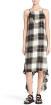 Public School Plaid Asymmetrical Midi Dress