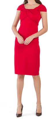 Twist Front Crepe Dress