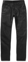 Rick Owens Detroit Slim-Fit Coated Denim Jeans