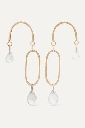 Melissa Joy Manning 14-karat Gold, Topaz And Moonstone Earrings - one size
