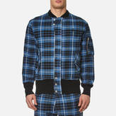 Vivienne Westwood Men's Berry Bomber Jacket Tartan Blue/Black