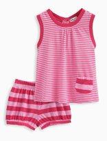 Splendid Baby Girl Directional Stripe Dress and Bloomer