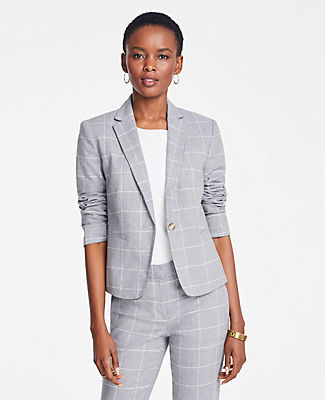 Ann Taylor The Newbury Blazer in Windowpane