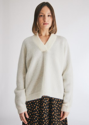 Just Female Women's Chica Knit Top in Jet Stream, Size Extra Small | Wool