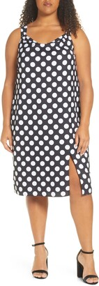 Maree Pour Toi Polka Dot Stretch Crepe Dress