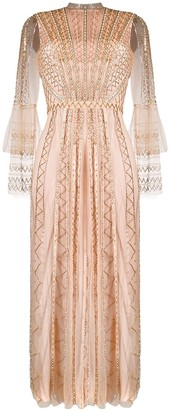 Temperley London Beaded Flared Dress
