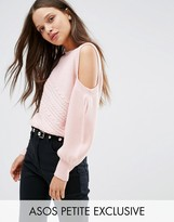 Asos Sweater with Cold Shoulder and Cable Stitch
