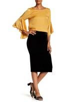 Bobeau Pull-On Velvet Skirt