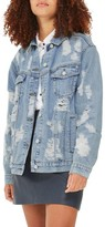 Topshop Women's Ripped Denim Jacket