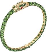 John Hardy Women's Cinta by Legends Naga Bracelet, 18K Gold, Tsavorite