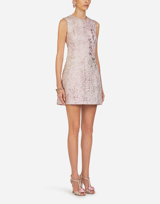 Dolce & Gabbana Short Lurex Jacquard Dress