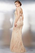 Jovani 25664 Lace V-neck Sheath Dress