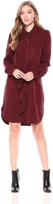 Three Dots Women's TV5858 All Weather Twill Dress