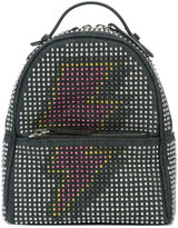 Les Petits Joueurs studded backpack - women - Leather/Cotton/metal - One Size
