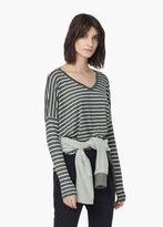Mango Outlet Stripe-Patterned T-Shirt