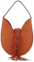 Altuzarra Ghianda Woven Leather Hobo Bag, Saddle