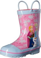 "Disney Frozen Girls' ""Trio & Snowflakes"" Rain Boots"
