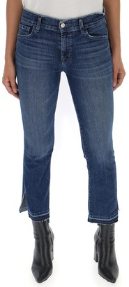 J Brand Selena Side Slit Detail Cropped Jeans