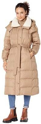 Kate Spade Heavyweight Down Belted Maxi Puffer Coat (Camel) Women's Coat
