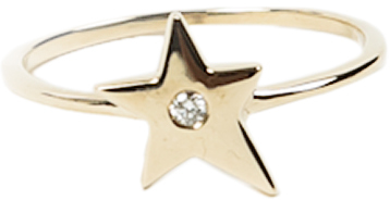 CAVIAR DREAMS Star Ring with Center Diamond