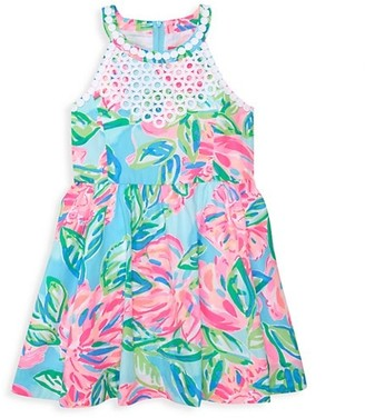 Lilly Pulitzer Little Girl's & Girl's Kinley Floral Cotton Poplin Fit-&-Flare Dress