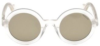 Moncler 50MM Clear Round Sunglasses