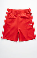 adidas Beckenbauer Red Drawstring Active Shorts